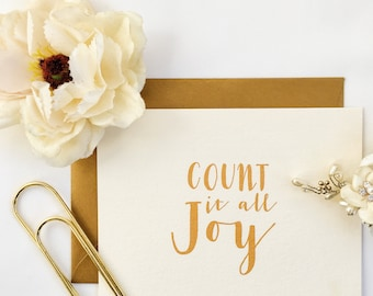 Count It All Joy Greeting Blank Note Card
