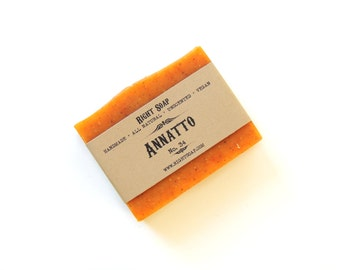 Annatto Soap - Gentle Exfoliating, natural soap, christmas gift, stocking stuffer, gift under 10