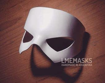 Static Shock Mask White Leather Cosplay Virgil Hawkins Phantom of the Opera Costume Pirate Super Hero Halloween Masquerade DC Superheroe