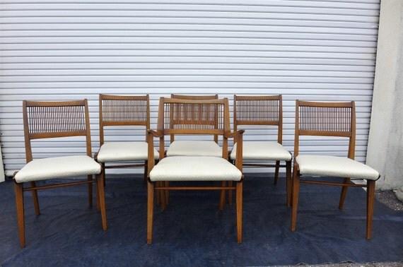 drexel profile dining chairs by john van koert mid century modern