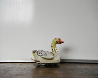 Little Tin Toy Duck. Old Carnival Look