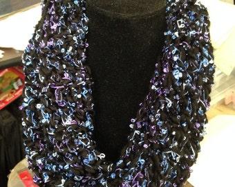 "58"" Crocheted eternity scarf"