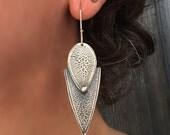 Arizona Kingman Turquoise Earrings, Turquoise Drop Earrings, Earrings Sterling Silver.