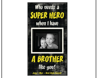 Brothers Super Hero Frame ~ Picture Frame For Brothers~ Personalized Superhero Decor~ Super Hero Kids Room