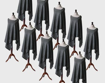 wholesale clothing, wholesale ponchos, 10 pieces ponchos, wool poncho, womens poncho, gray poncho, womens sweater, wool sweater, knit poncho