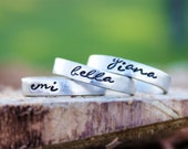 Stacking Rings | Stackable Name Rings | Personalized stacking rings | Custom ring | Name Ring | Name Rings | Stacking Ring Set|Rings for mom