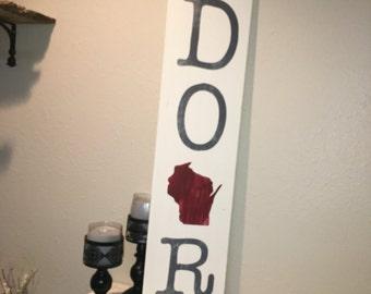 Custom Wood Sign, Door County Wisconsin, Door Rustic Home Decor, Door County Sign