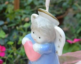 Angel Ornament Grandma - Pottery, Hand Painted - Vintage - Fabulous!
