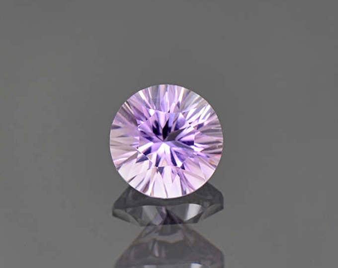 Bright Concave Round Ametrine Quartz Gemstone from Bolivia 1.78 cts.
