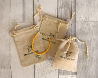 Charm Bracelet Drawstring Gift Bag