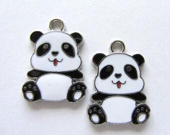 3 Pieces Panda Bear Charm Pendants