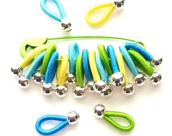 choose Size - soft flexible FLOOPS knitting stitch markers - 'Cornwall'