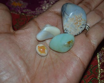 The Opals Collection: Mexican Fire Opal, Andean Blue Opal, Black Opal & White Opal