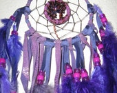 Birthday Dream Catcher- Handmade for the month of January with Garnet gemstones