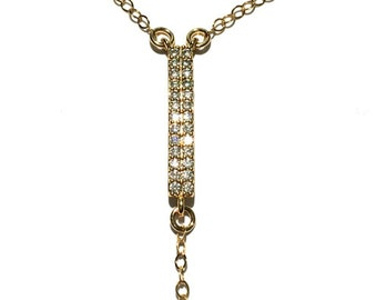 14k GF CZ Foot Chain, Gold Chain Linked Toe Ring Anklet, Gold Anklet