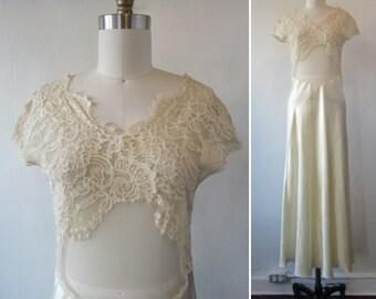1980s slip | vintage 80s slip | vintage slip | vintage lingerie | vintage bridal lingerie | small | The Golden Hour Before Sunset Slip