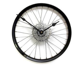 Large Wall Clock - Bicycle Wheel Clock, Bicycle Clock, Bike Wall Clock - Unique wall clock