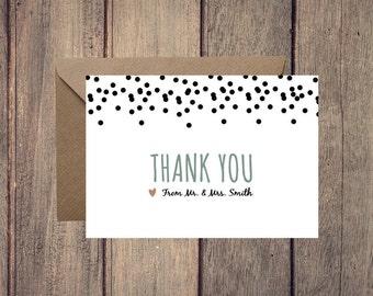 Thank You Card, Dots Collection, Printable