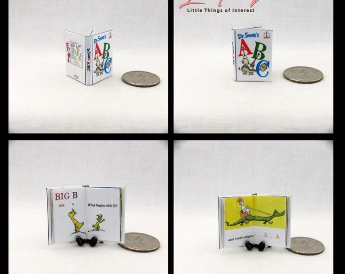 DR. SEUSS'S ABC Miniature Book Color Illustrated Dollhouse 1:12 Scale Book Seuss Alphabet Children's Nursery Story