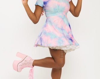 Cotton Candy - printed - skater dress - Barbie girl - clothing - cute