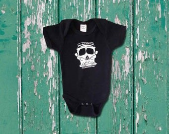 Kids & Infant VW Bus Skull T-shirt or Onesie - Exclusive Design