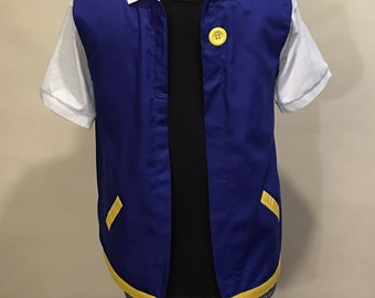 Adult  SMALL- POKEMON Trainer - ASH Ketchum  Costume   Cosplay