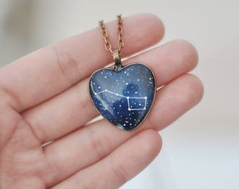 Big Dipper necklace Pendant Gift for her Under 30 Girlfriend Constellation Ursa Major Personalized Jewelry Stars Galaxy Astronomy Girl
