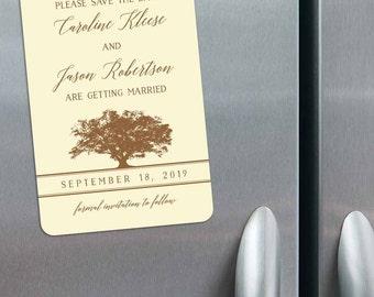 Oak Tree - Magnet - Save the Date + Envelopes