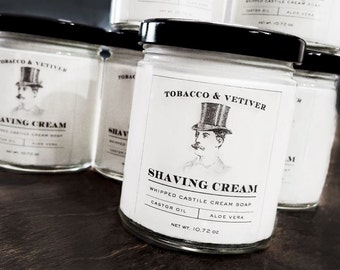 Shaving Cream | Tobacco | Vetiver | Barbershop | Vintage Men | Gift For Him | Shave Soap | Mens Shave Kit | Old Fashioned | Gentleman