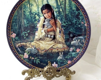 "1994 Bradford Exchange ""Through a Child's Eyes"" WOODLAND ROSE Collector Plate"