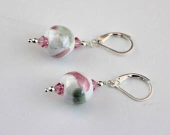 Kazuri Earrings - Kazuri Jewelry - Handpainted beads - Beaded Earrings - Beaded Jewelry - African Beads - Gift for her - Spring Drops
