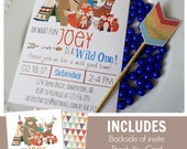 Tribal Woodland Printable Invitation | BOYS | Tribal Birthday | Woodland Birthday | Woodland Invitation Woodland Animal Epic Parties by REVO