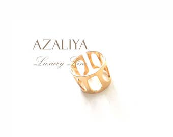 Ring Gold Plated, Ring without Stone, Ring Gift.