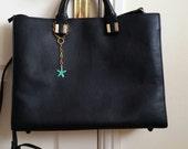 Green Starfish Bag Charm Bracelet Purse Charm Handbag Charm