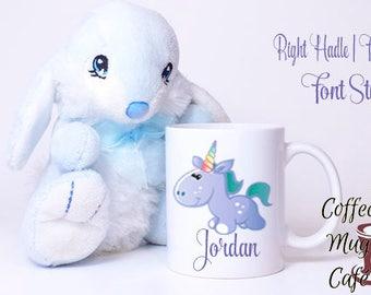 Mug for kids, Personalize with name, Children's Mug, Unicorn, Kid's mug, Present for child, Milk Cup, juice cup, Cocoa Mug, coffee mug