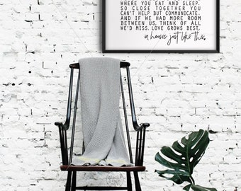 Little Houses || Love Grows Best, Love Grows Best in Little Houses, Wedding Gift, Housewarming, Family Sign, New Home, Gallery Wall, lyrics
