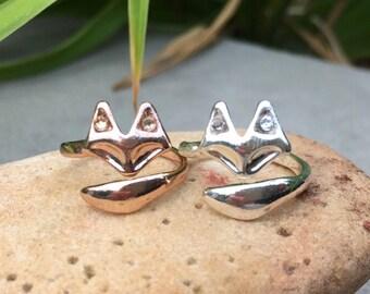 Fox Ring/ Swarovski Crystal Fox Ring/ Minimalist Jewelry/ Animal Jewelry