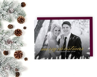 Elegant Christmas Card, Holiday Card, Happy Holidays, Happy New Year