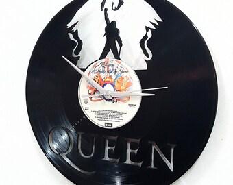 Queen -Freddie Mercury Wall Art -Vinyl LP Record Clock or Framed Vinyl-Great Rock'n'Roll Gift ,Vinyl Wall Clock,Wall records clock