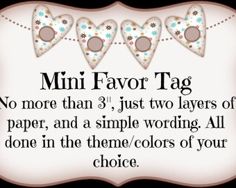 Mini Favor Tag
