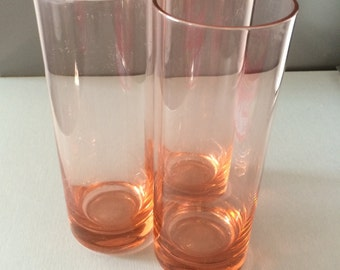 Vintage Highball Drinking Glasses