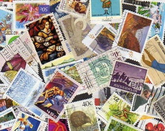 100 Diff Australia Stamps, Postage Stamps, Australia, Australia Stamps,Stamp Collection,Australian Stamps,Stamp Collection