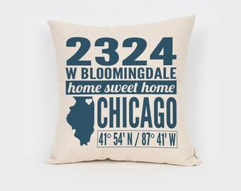 Custom Housewarming Gift, Realtor Closing Gift, New Home Gift, Home Decor, Home & Living, Custom Coordinates, Apartment Decor, Address