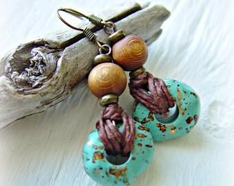 Boho Hippie Earrings - Boho Jewelry - African Jewelry - Hippie Earrings - African Earrings - Tribal Earrings - Ethnic Earrings
