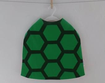 Kids Turtle Cape, 100% cotton, Handmade, Dress up, Boys, Girls, Green, Birthday party, Children, Fancy dress costume, Halloween, 1-10 years