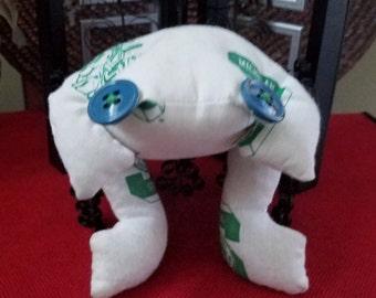 MSU Seven Inch Long Beanbag Frog Handmade