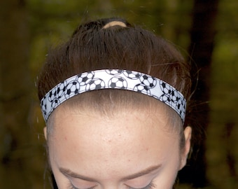 Soccer Headbands Sport - Kids Headbands for Girls Soccer Gifts - Choice of Sizes & Colors - Soccer Team Gifts Custom Headbands