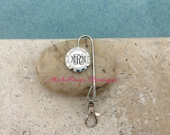 Monogram Purse Key Finder, Personalized Key Chain Hook, Key Chain Purse Hook, Gifts for Her, Bridesmaid Gift, MB314