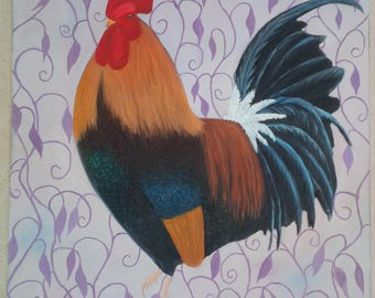 ROOSTER  original oil painting
