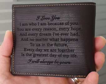 valentines day, personalized men's wallet, fathers day gift, wallet, gift for men, valentines day gift, valentines, leather wallet